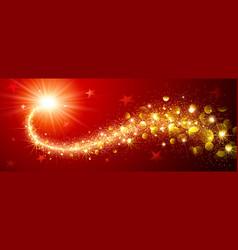 christmas magic star vector image