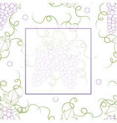 Colorful line grape banner on white background2 vector