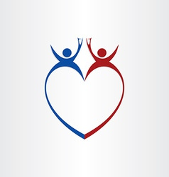 couple wedding love cheers celebration symbol vector image