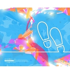 Creative footprint Art vector
