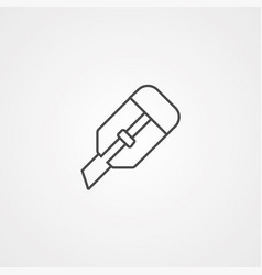 Cutter icon sign symbol vector