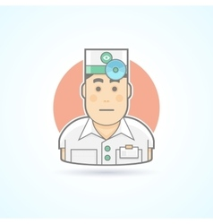 Doctor physician icon vector