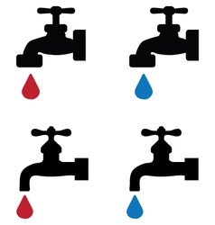 faucet vector image