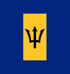 Flag of barbados official colors and proportions vector