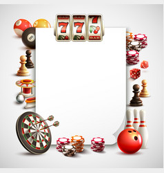 Games realistic frame vector