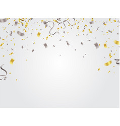 gold and silver confetti celebration vector image