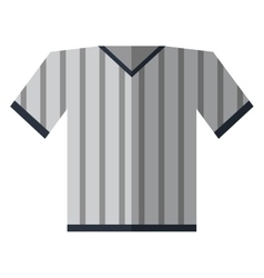 gray jersey referee american football vector image