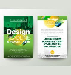 Green brochure cover flyer poster design layout vector