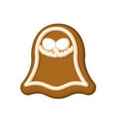 Halloween cookie ghost cookies for terrible vector