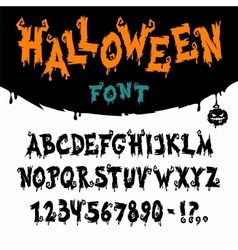 Halloween Font vector image