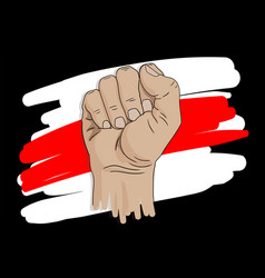 hand and flag vector image