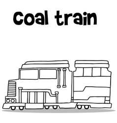 Hand draw of coal train transport vector
