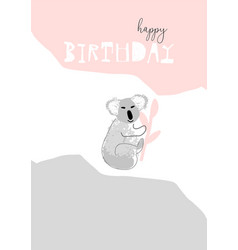Hand drawn abstract pastel baby shower card vector