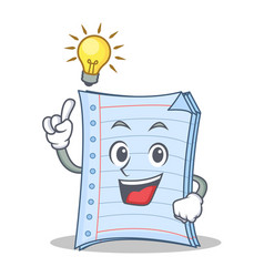 Have an idea notebook character cartoon design vector