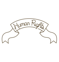 Human rights on tape isolated icon vector