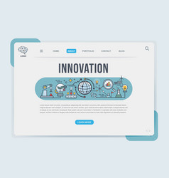 innovation landing page web design templates for vector image