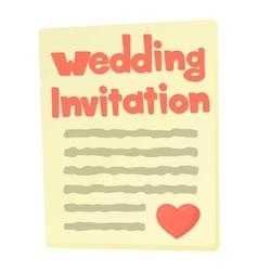 Invitation icon cartoon style vector