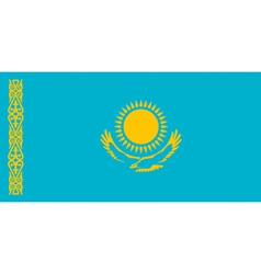 Kazakh flag vector