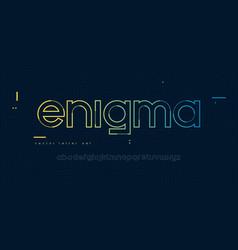 Linear lowercase letter set alphabet font vector