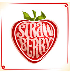 Logo for strawberry vector