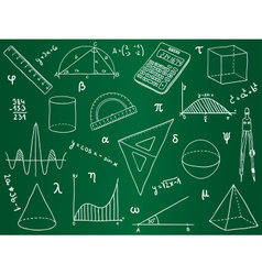 Mathematics - school supplies geometric shapes an vector