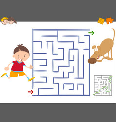 Maze leisure activity game vector
