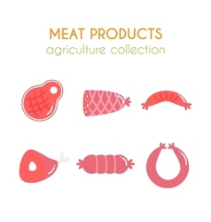 Meat products Sausages and vector