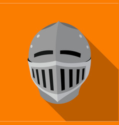 Medieval helmet icon flate single weapon icon vector