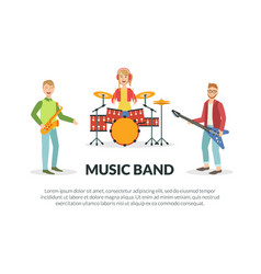 music band banner template with space for text vector image