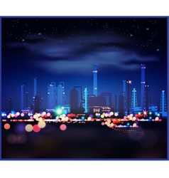 Night industrial landscape vector image
