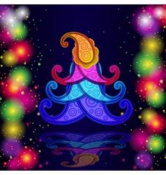 Paisley christmas vector image