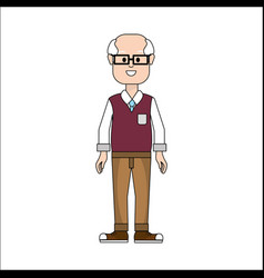 People man with casual cloth with glasses avatar vector