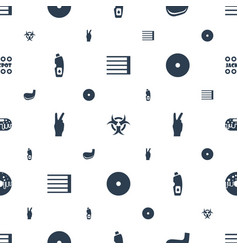 Poster icons pattern seamless white background vector