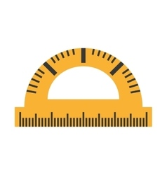 protractor rule isolated icon vector image