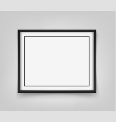 rectangular black frame on grey background vector image