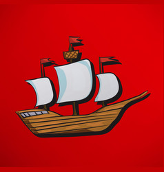 Sailing vessel vector