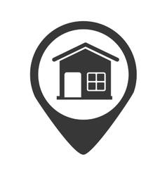 Search real estate icon vector