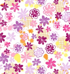 Skribbled flowers vector