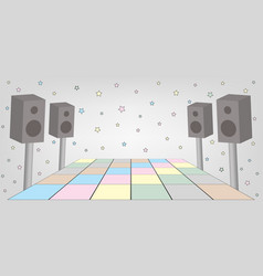 Space for dance party vector