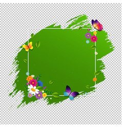 spring banner with flower isolated vector image