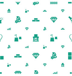 stone icons pattern seamless white background vector image