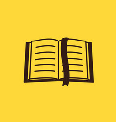 Thin lined book icon vector