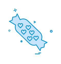 Toffee icon design vector