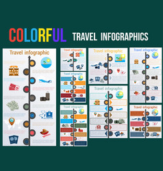 tourism and travel concept in infographics vector image