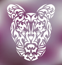Tribal leopard vector image