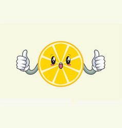 Wow surprised amazed dismay face double thumb up vector