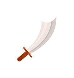 cartoon pirate corsair medieval cutlass sword vector image