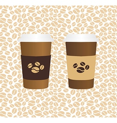 Coffee drinking glasses vintage concept vector image