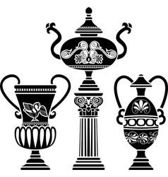 greek vases vector image vector image