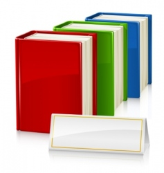 set of books with sign vector image vector image